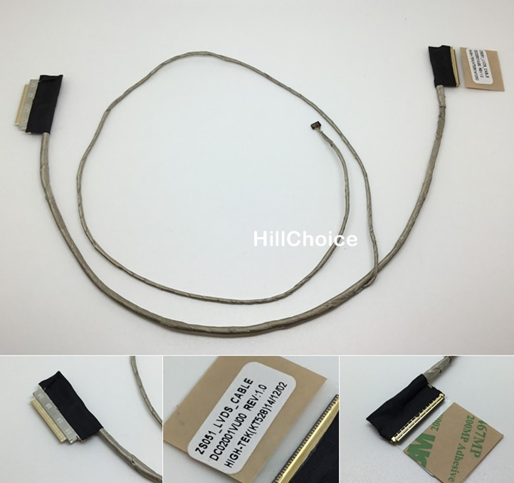 New LCD LVDS Video Cable for HP Pavilion 15-G 15-R 15-H 250 G3 DC02001VU00