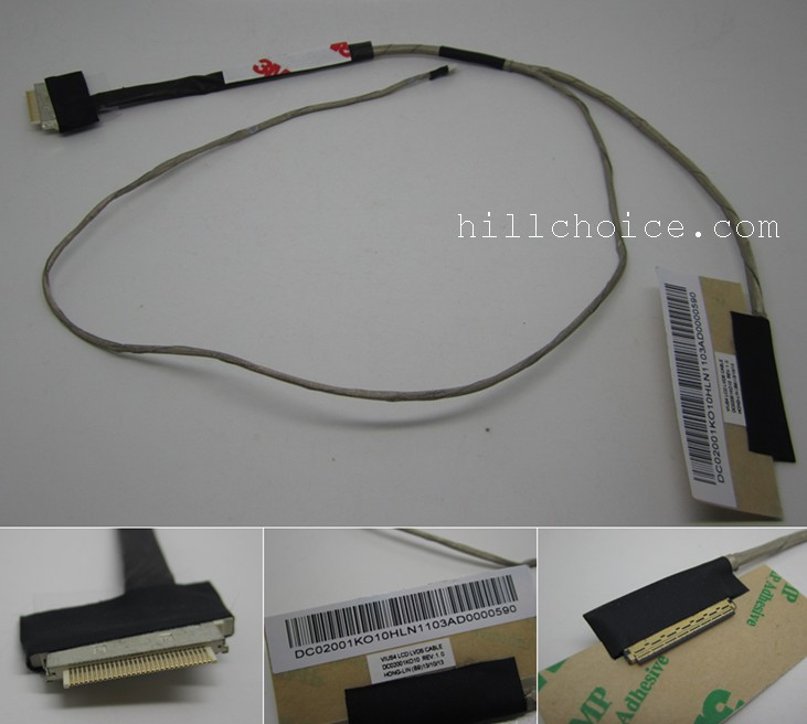 NEW LVDS LCD Cable for Lenovo S300 S400 S500 LCD LVDS video Cable DC02001KO10