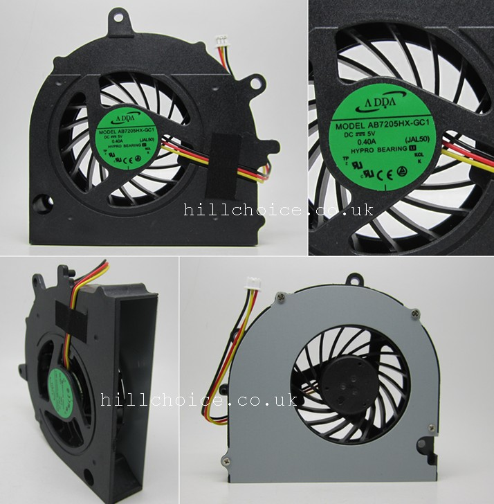 New CPU Cooling Fan For Toshiba Satellite A500 A505 Laptop AB7205HX-GC1 JAL50