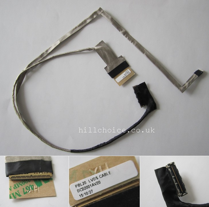 LVDS LED LCD Screen Cable For Asus K53 A53 X53 K53E K53S X53E X53SJ X53SV Laptop DC02001AV20